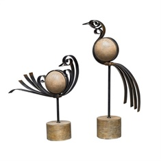 Uttermost Anvi Bird Sculptures, S/2