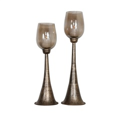 Uttermost Badal Antiqued Gold Candleholders Set/2