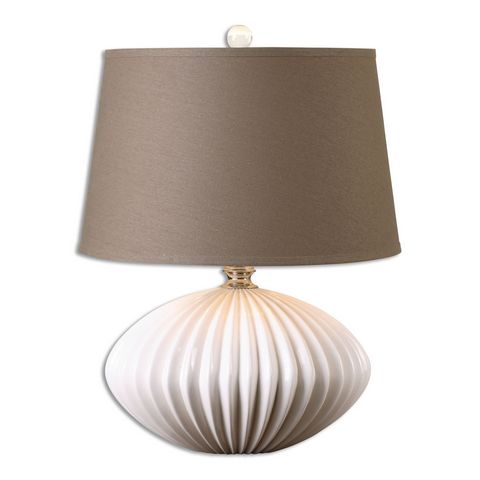 Uttermost Bariano Gloss White Table Lamp