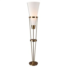 Uttermost Bergolo Brushed Brass Floor Lamp
