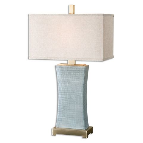 Uttermost Cantarana Blue Gray Table Lamp
