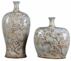 Uttermost Citrita Decorative Ceramic Vases Set/2