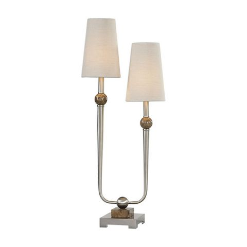 Uttermost Claret Nickel 2 Light Lamp