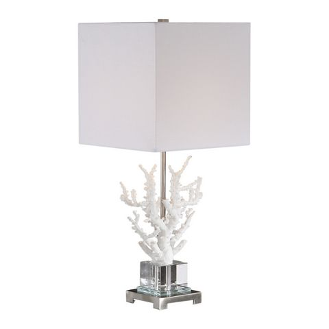 Uttermost Corallo White Coral Table Lamp