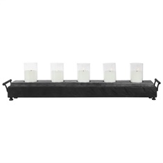Uttermost Cordaro Charcoal Wood Candleholder