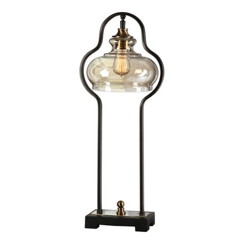 Uttermost Cotulla Aged Black Desk Lamp