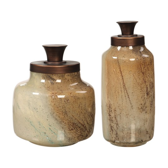 Uttermost Elia Glass Containers, S/2