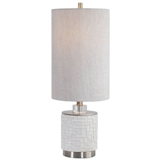 Uttermost Elyn Glossy White Accent Lamp