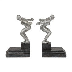 Uttermost Endurance Silver Bookends, S/2