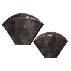 Uttermost Filip Dark Nickel Vases Set/2