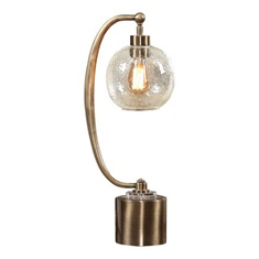 Uttermost Gacinia Seeded Glass Globe Lamp