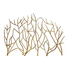 Uttermost Gold Branches Decorative Fireplace Screen