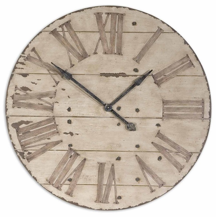 "Uttermost Harrington 36"" Wooden Wall Clock"