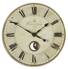 "Uttermost Harrison Gray 23"" Clock"
