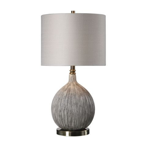 Uttermost Hedera Textured Ivory Table Lamp