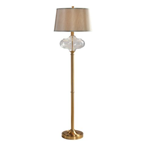 Uttermost Jelani Glass & Brass Floor Lamp