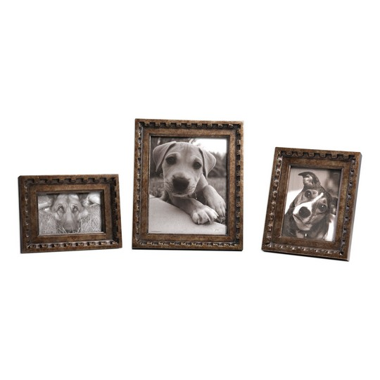 Uttermost Kalya Antiqued Bronze Photo Frames S/3