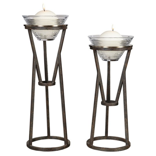 Uttermost Lane Iron Candleholders Set/2