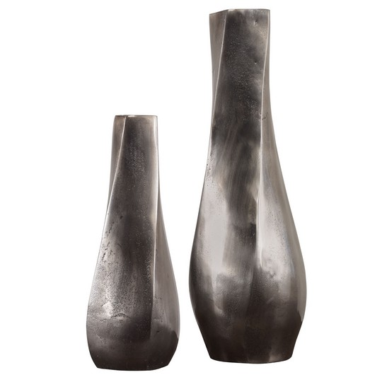 Uttermost Noa Dark Nickel Vases Set/2