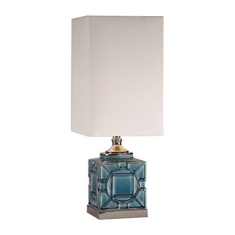 Uttermost Pacorro Crackled Blue Lamp