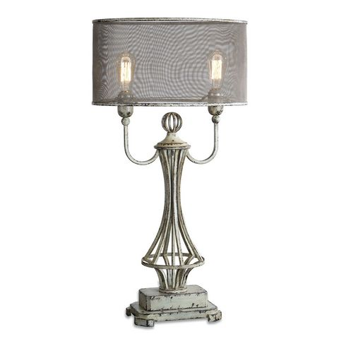 Uttermost Pontoise Aged Ivory Table Lamp