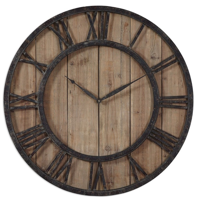 Uttermost Powell Wooden Wall Clock