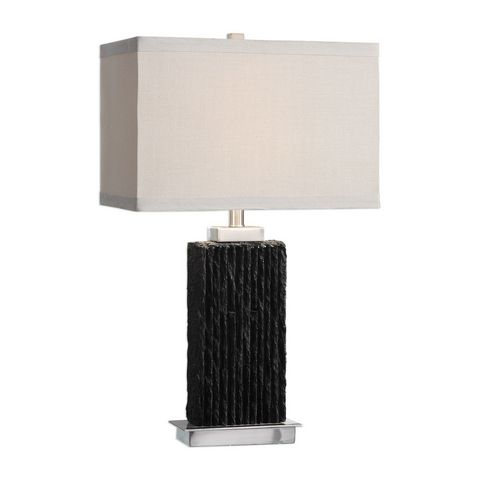 Uttermost Pravus Black Slate Table Lamp