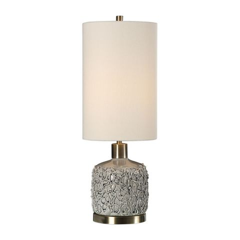 Uttermost Privola Gray Ceramic Lamp