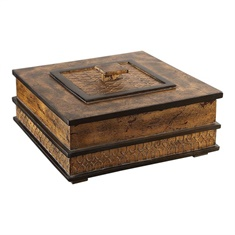 Uttermost Ray Gold Leaf Box