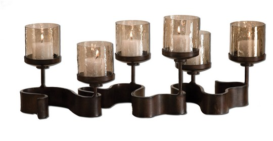 Uttermost Ribbon Metal Candleholders