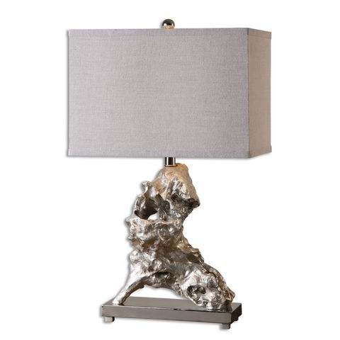 Uttermost Rilletta Metallic Silver Table Lamp