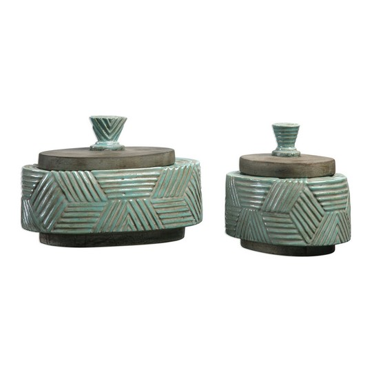 Uttermost Ruth Ceramic Boxes S/2