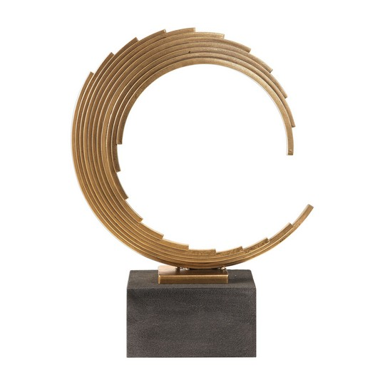 Uttermost Saanvi Curved Gold Rods Sculpture