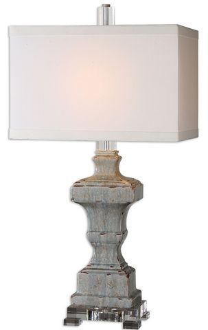Uttermost San Marcello Blue Glaze Lamp
