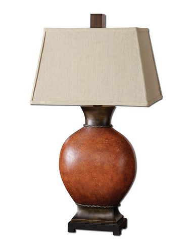 Uttermost Suri Burnished Red Table Lamp