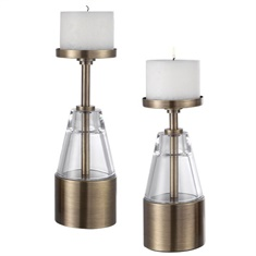 Uttermost Theirry Crystal Candleholders, Set/2