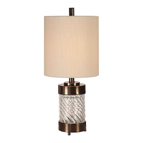 Uttermost Thorton Spiral Glass Buffet Lamp