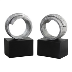 Uttermost Twist Modern Silver Bookends S/2