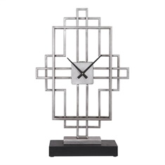 Uttermost Vanini Silver Tabletop Clock