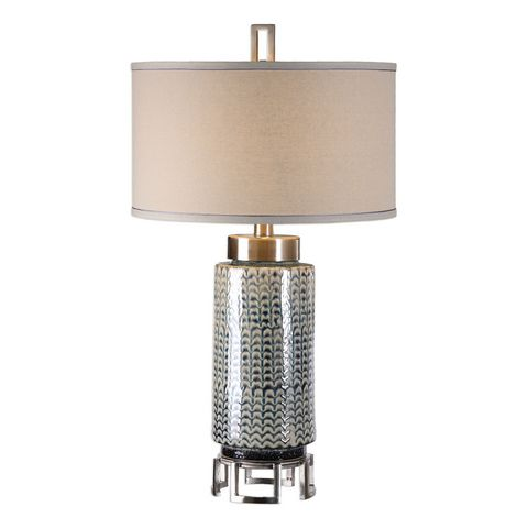 Uttermost Vanora Cerulean Blue Table Lamp