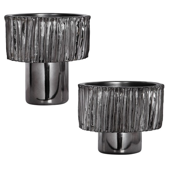 Uttermost Zosia Nickel Bowls, Set/2