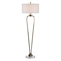 Valkaria Curved Brass Floor Lamp