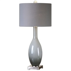 Vallo Smoke Gray Glass Lamp