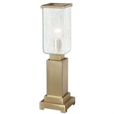 Vinchio Crackled Glass Hurricane Lamp