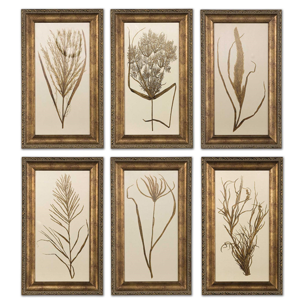 Wheat Grass Framed Art Set/6
