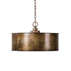 Wolcott 3 Light Golden Pendant