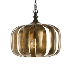 Zucca 1 Light Antique Gold Pendant